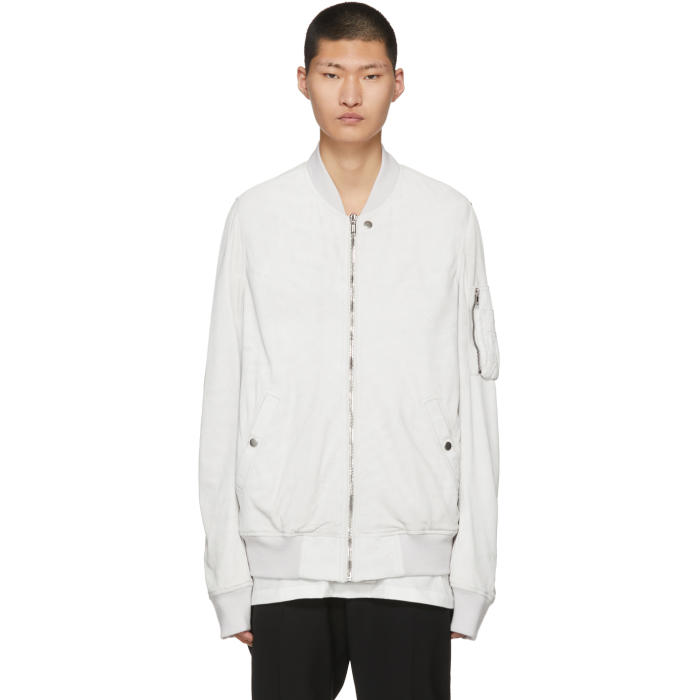 Photo: Rick Owens White Flight Bomber Jacket