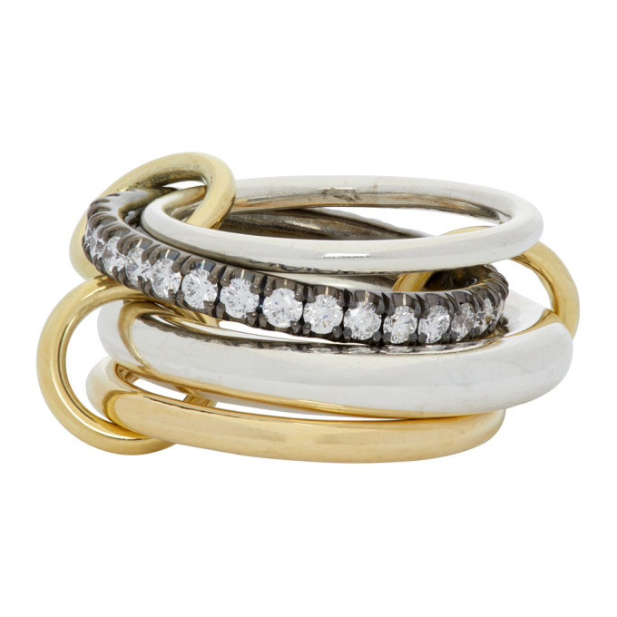 Photo: Spinelli Kilcollin Silver and Gold Janssen Four-Link Ring