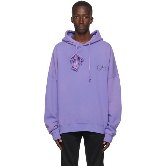 Photo: We11done Purple Iridescent Logo Hoodie