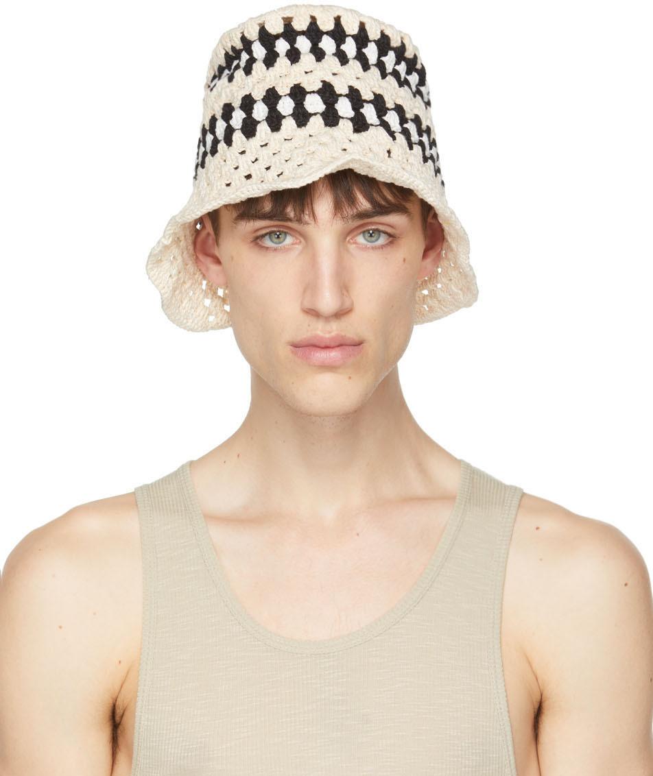 Photo: AMIRI Off-White Crochet Bucket Hat