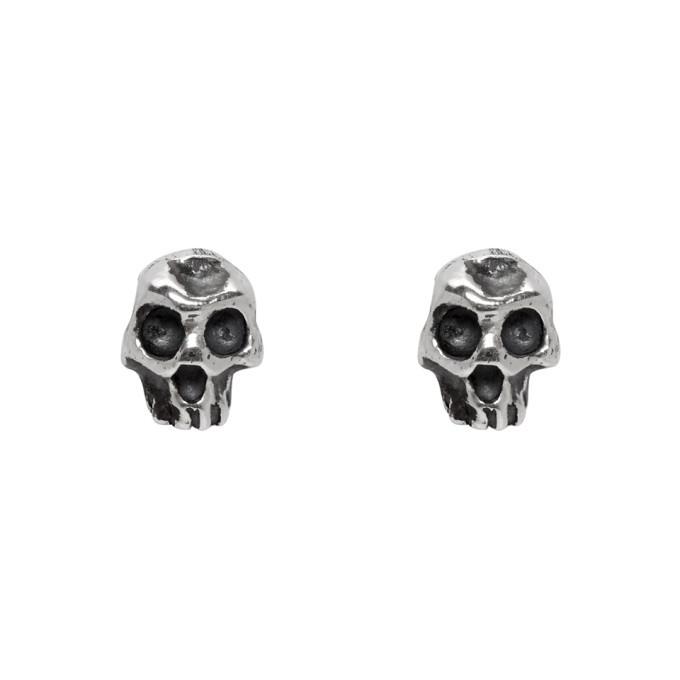 Photo: Luka Sabbat x Monini Silver Baby Skull Earrings