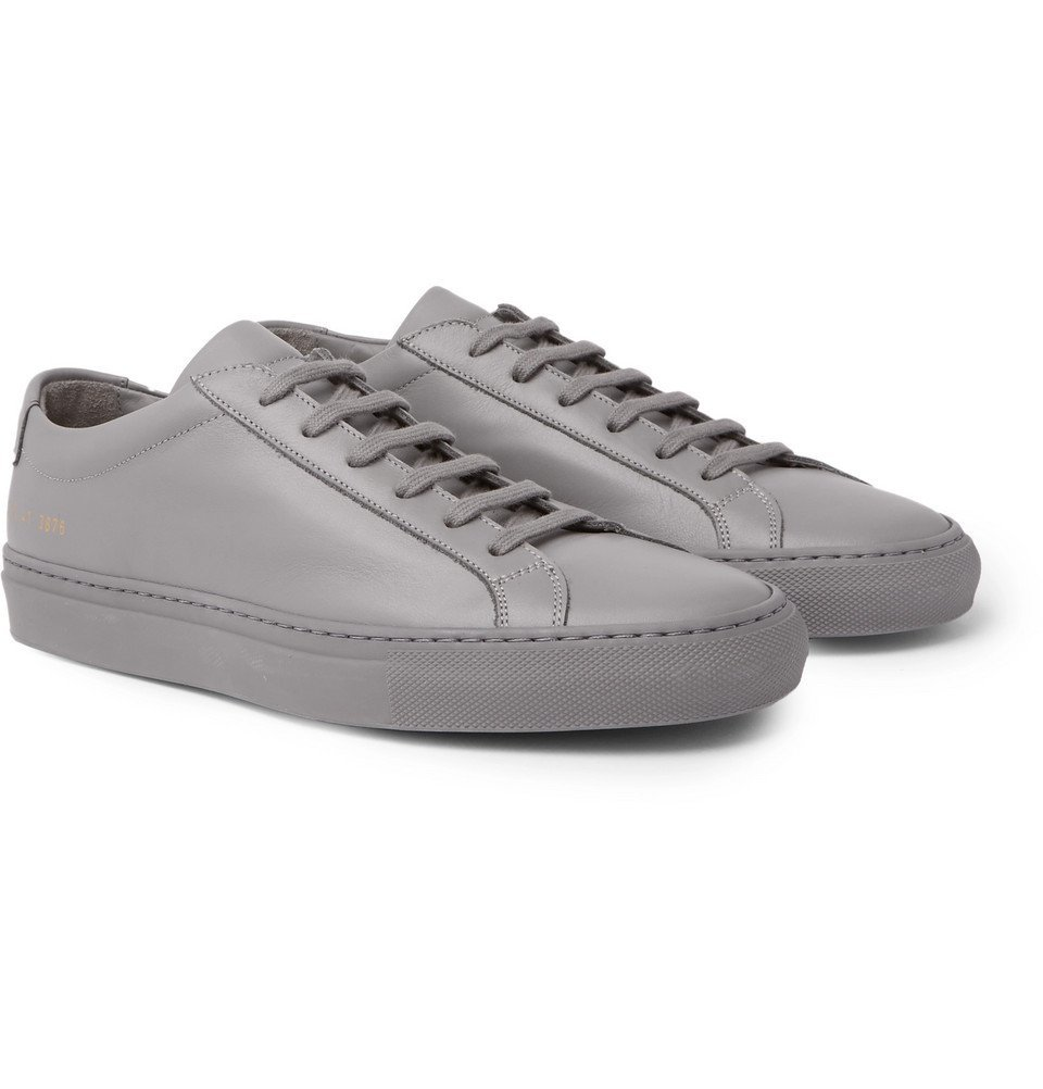 Common Projects - Original Achilles Leather Sneakers - Men - Gray