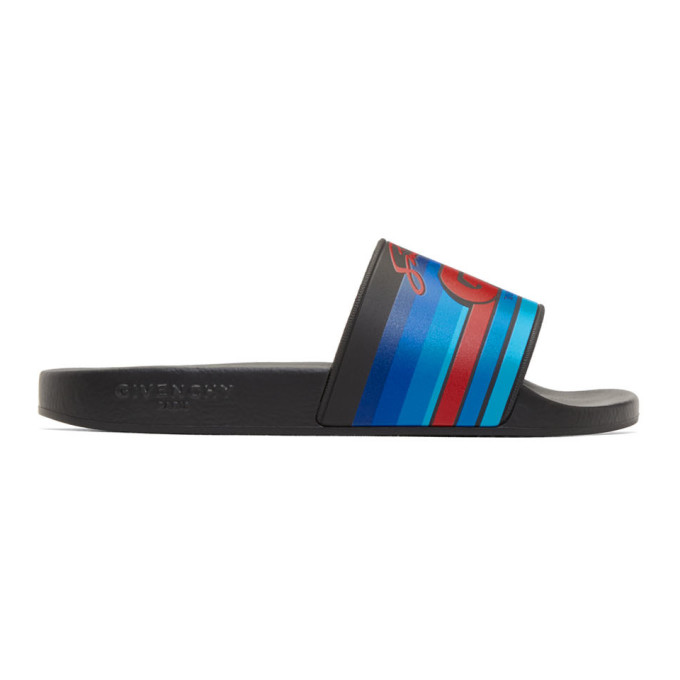 Photo: Givenchy Black GV World Tour Motocross Pool Slides