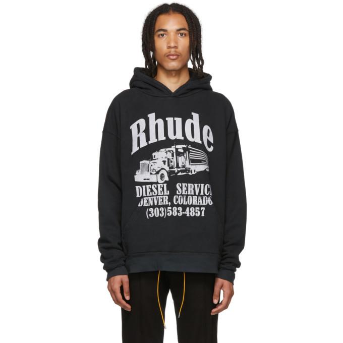 Photo: Rhude Black Diesel Service Hoodie