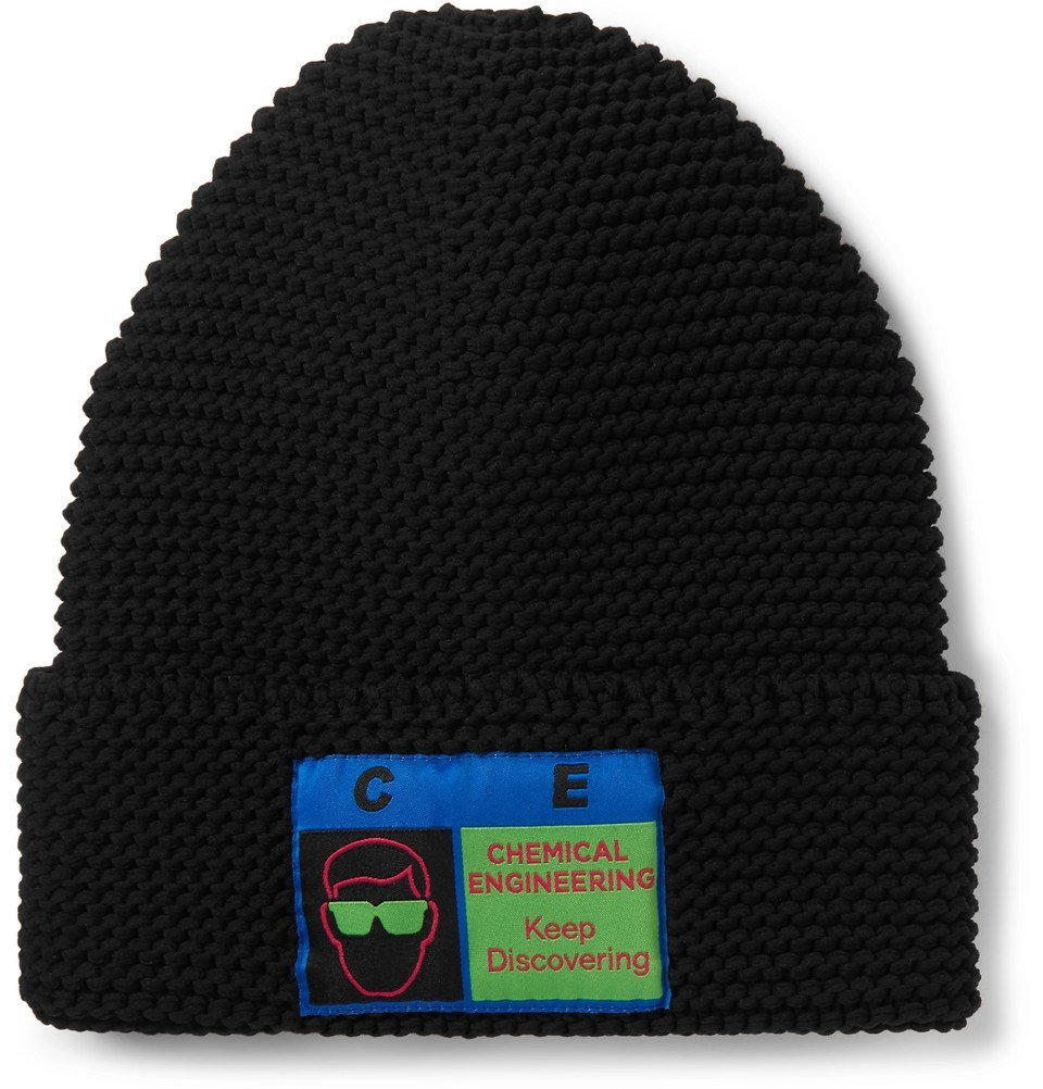 Photo: Cav Empt - Logo-Appliquéd Ribbed-Knit Beanie - Black