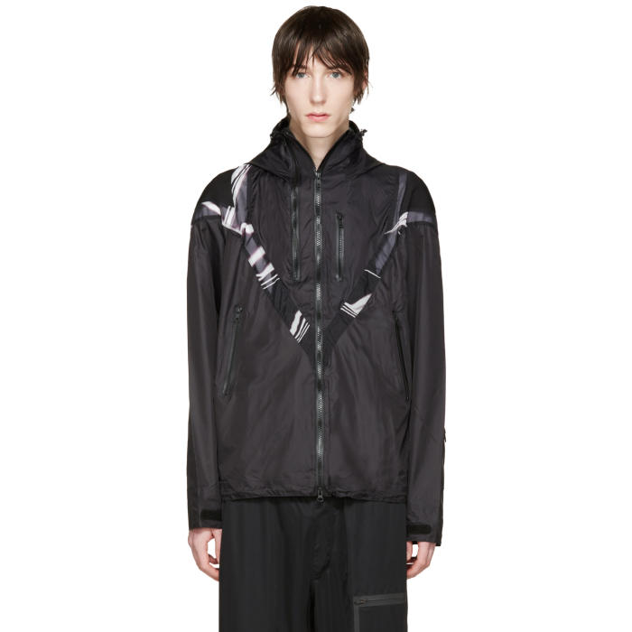 Y-3 Black Twin Zip Panelled Jacket