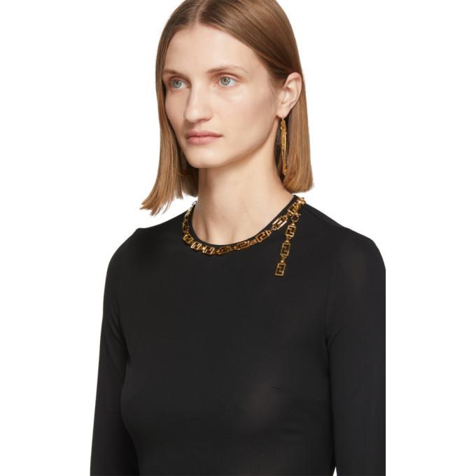 Versace Black Empire Necklace T-Shirt