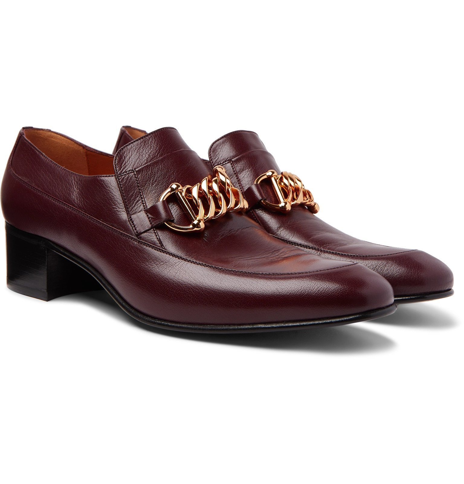 Photo: Gucci - Horsebit Leather Loafers - Burgundy