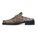 Martine Rose Brown Snake Slip-On Loafers