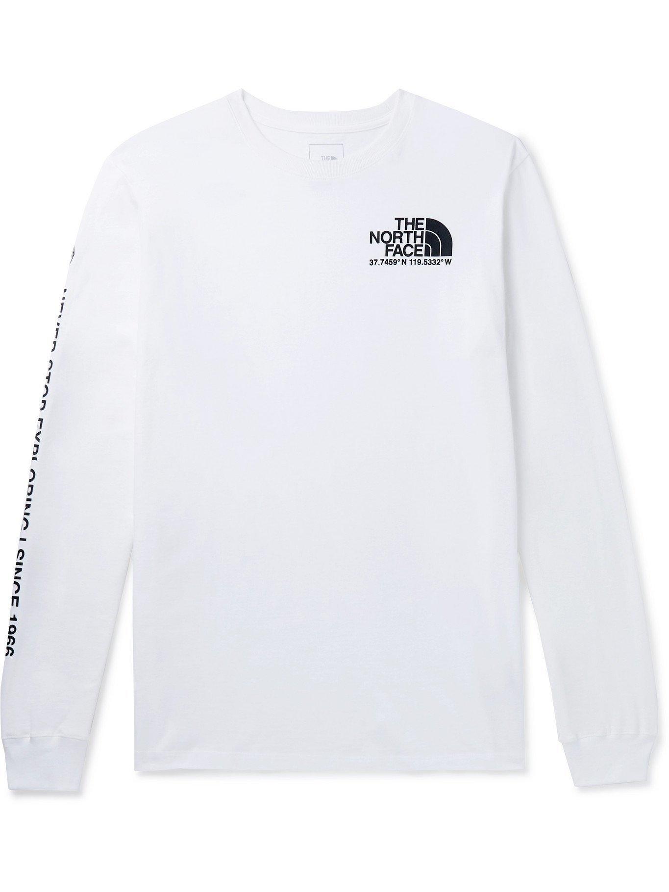 Photo: THE NORTH FACE - Logo-Print Cotton-Jersey T-Shirt - White - XL