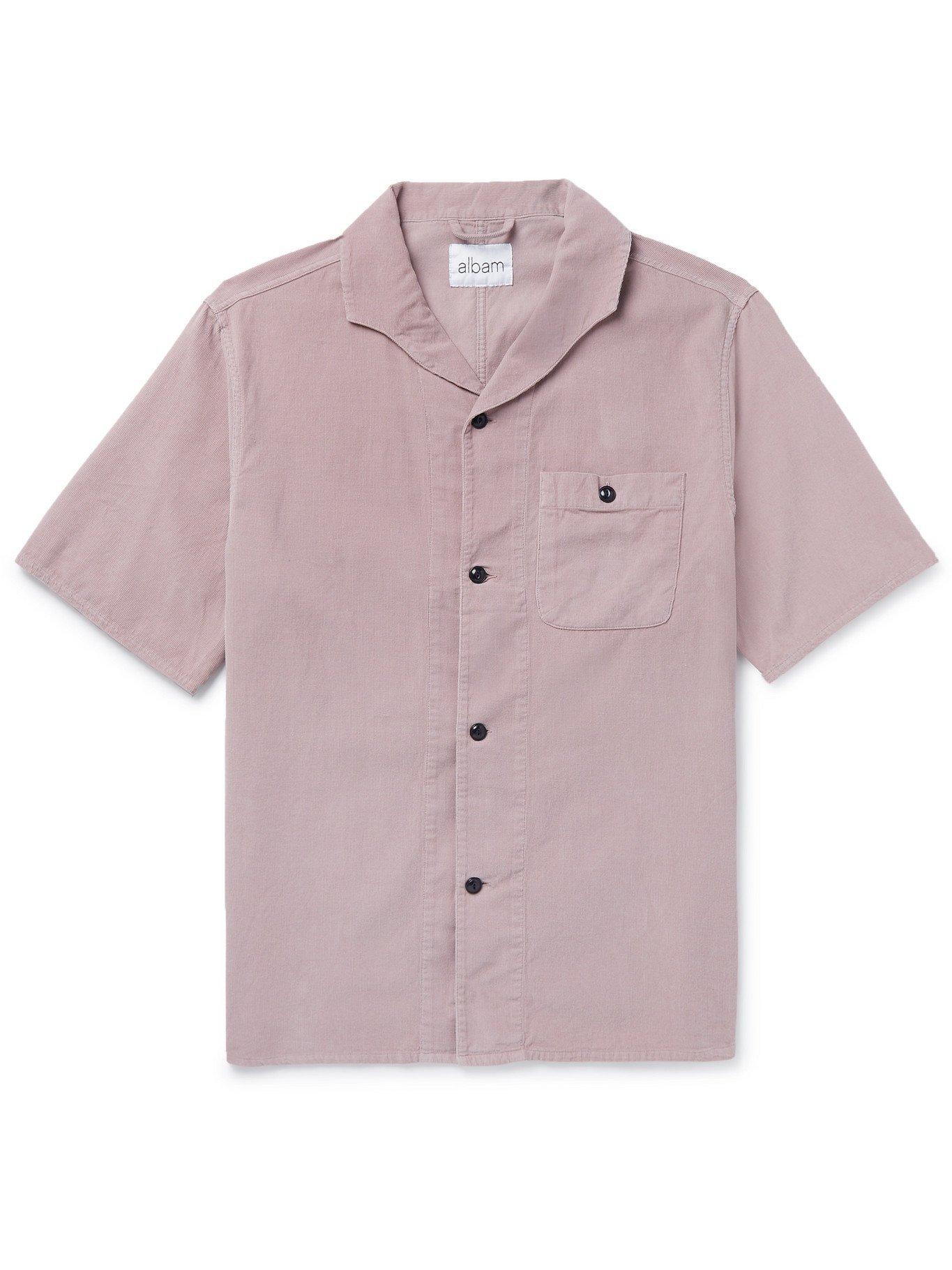 Photo: Albam - Miles Camp-Collar Printed Cotton Shirt - Pink