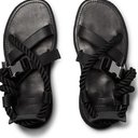 Sacai - Rope, Leather and Canvas Sandals - Black