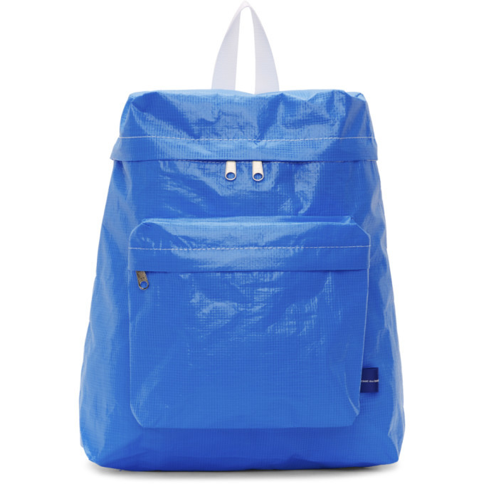 Photo: Comme des Garcons Shirt Blue Large Poly Backpack