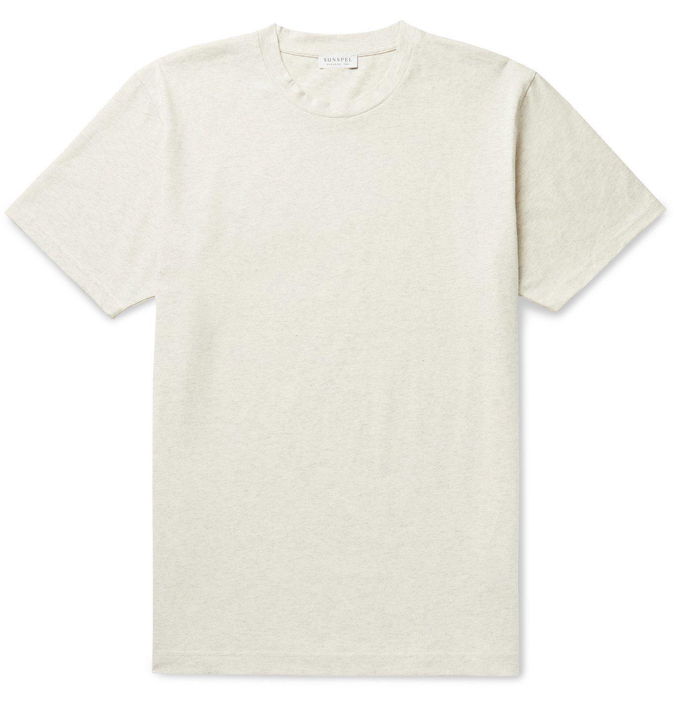 Photo: SUNSPEL - Riviera Mélange Organic Cotton-Jersey T-Shirt - Gray
