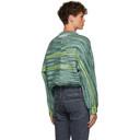 Martine Rose Green Hand Knit Sweater