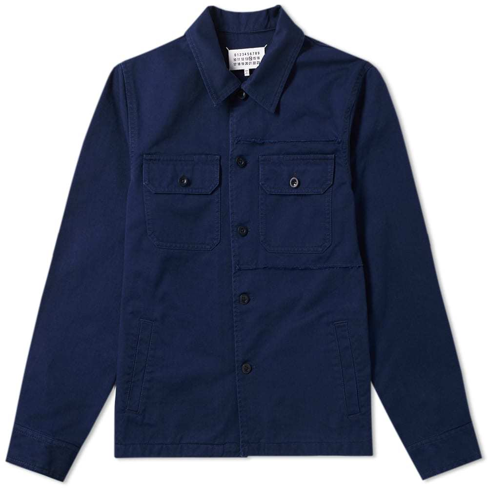 Photo: Maison Margiela 14 Distressed Shirt Jacket Dark Blue