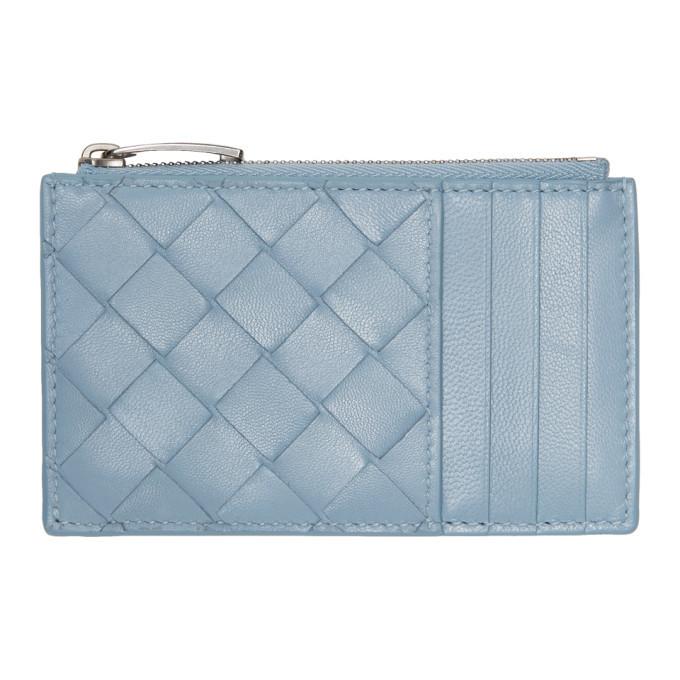 Photo: Bottega Veneta Blue Intrecciato Multi Card Holder