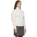 Nina Ricci White Wool Rib Knit Turtleneck