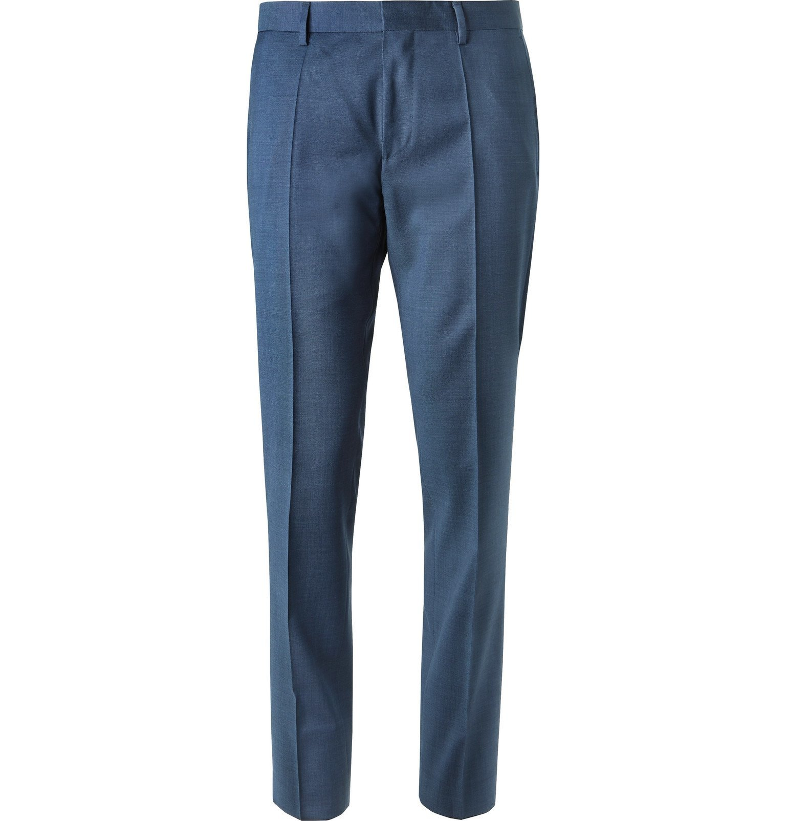 Photo: Hugo Boss - Blue Genius Slim-Fit Super 120s Virgin Wool Suit Trousers - Blue