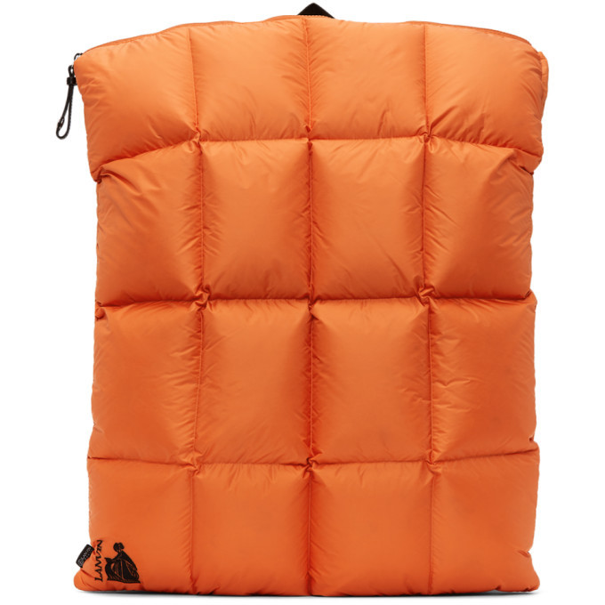 Photo: Lanvin Orange Down Quilted Backpack