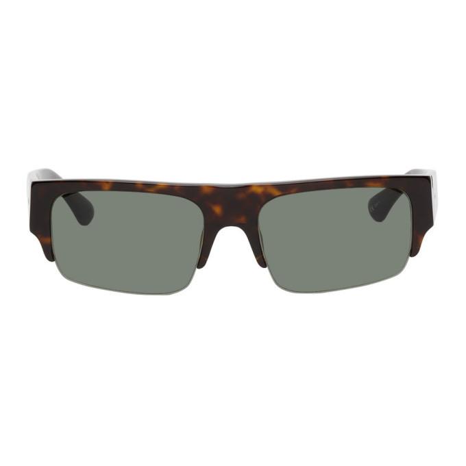 Photo: Dries Van Noten Tortoiseshell Linda Farrow Edition 190 C5 Sunglasses