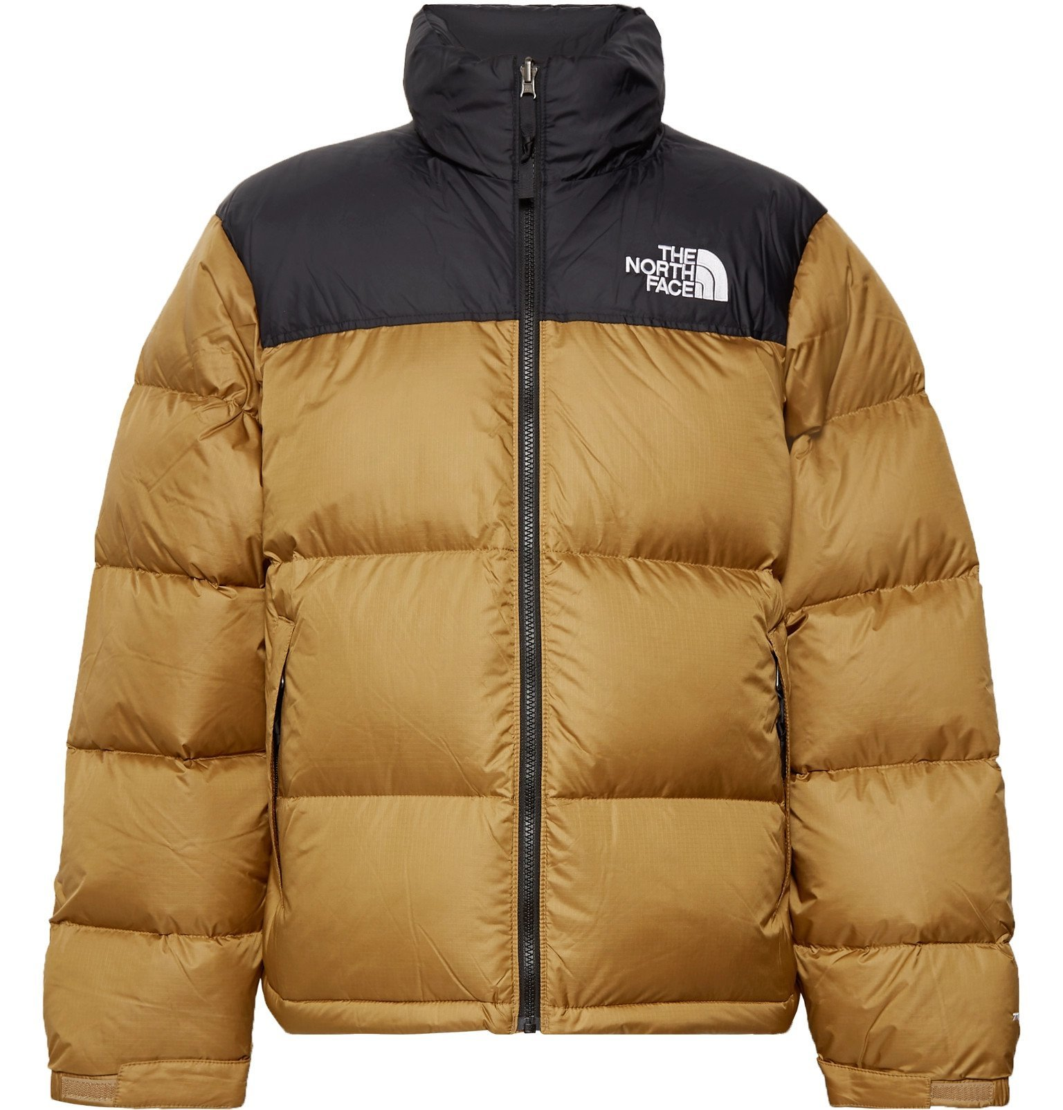 Photo: The North Face - 1996 Nuptse Colour-Block Quilted Nylon-Ripstop Down Jacket - Brown