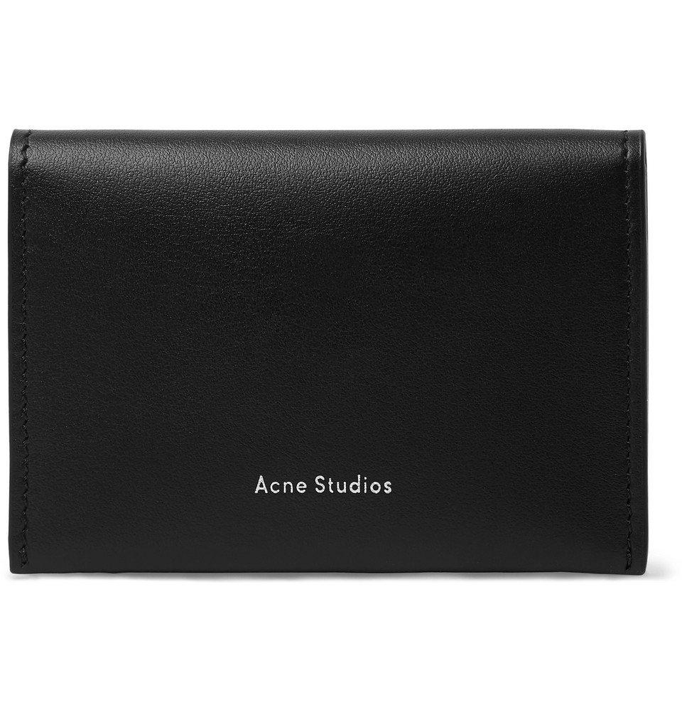 Photo: Acne Studios - Leather Bifold Cardholder - Black
