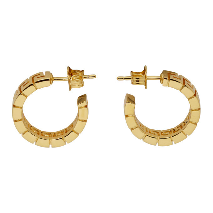 Photo: Versace Gold Greca Hoop Earrings
