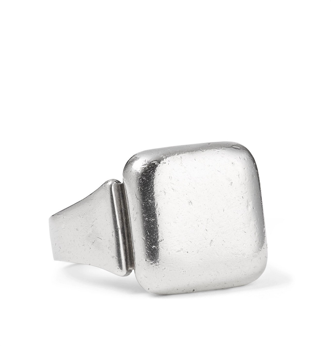 Photo: Bottega Veneta - Distressed Sterling Silver Signet Ring - Silver