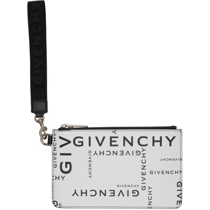 Photo: Givenchy Black and White Mini Logotype Pouch