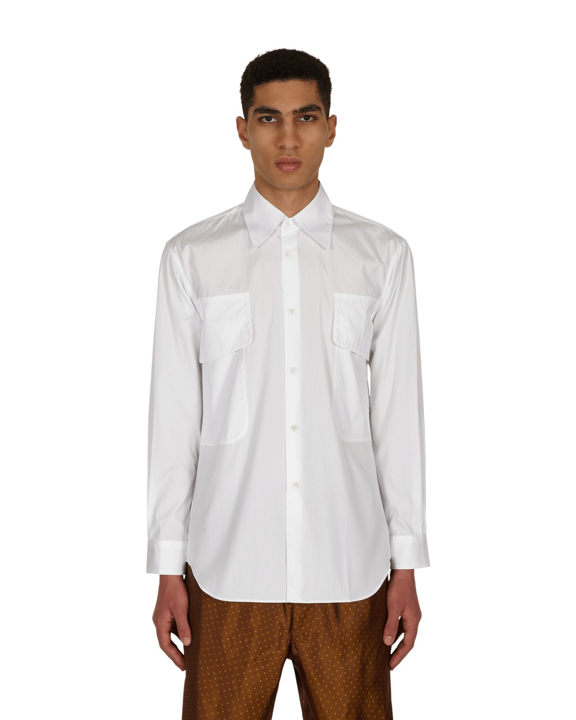 Photo: Comme Des Garcons Shirt Pocket Shirt White