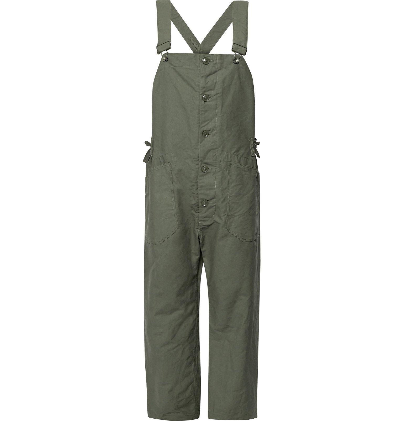 Photo: Engineered Garments - Cotton-Canvas Overalls - Green