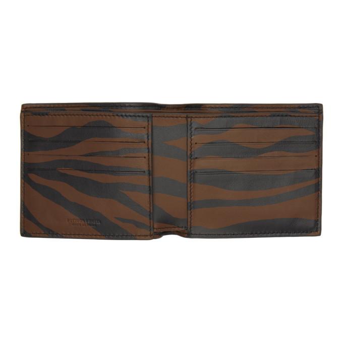 Bottega Veneta Brown Intrecciato Zebra Wallet