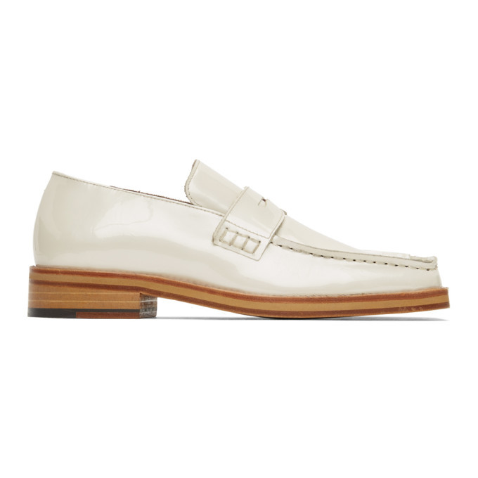 Photo: Martine Rose Beige Pearlised Roxy Loafers