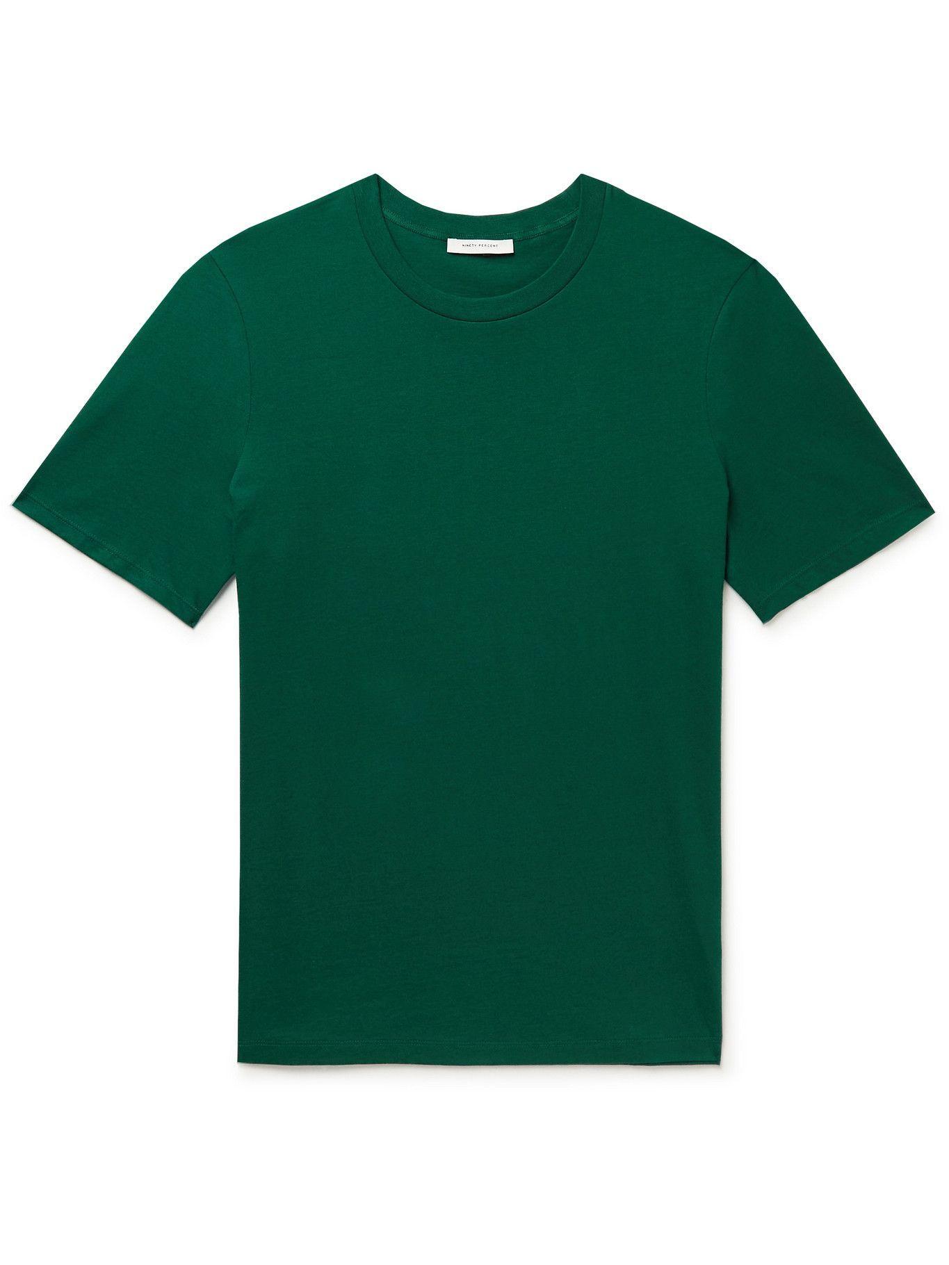 Photo: Ninety Percent - Organic Cotton-Jersey T-Shirt - Green