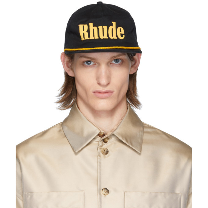 Photo: Rhude Black and Yellow Logo Cap