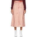 Nina Ricci Pink Velvet Skirt