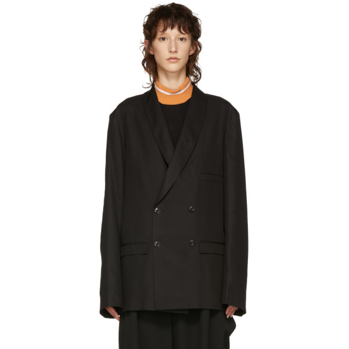 Photo: Lemaire Black Double-Breasted Blazer