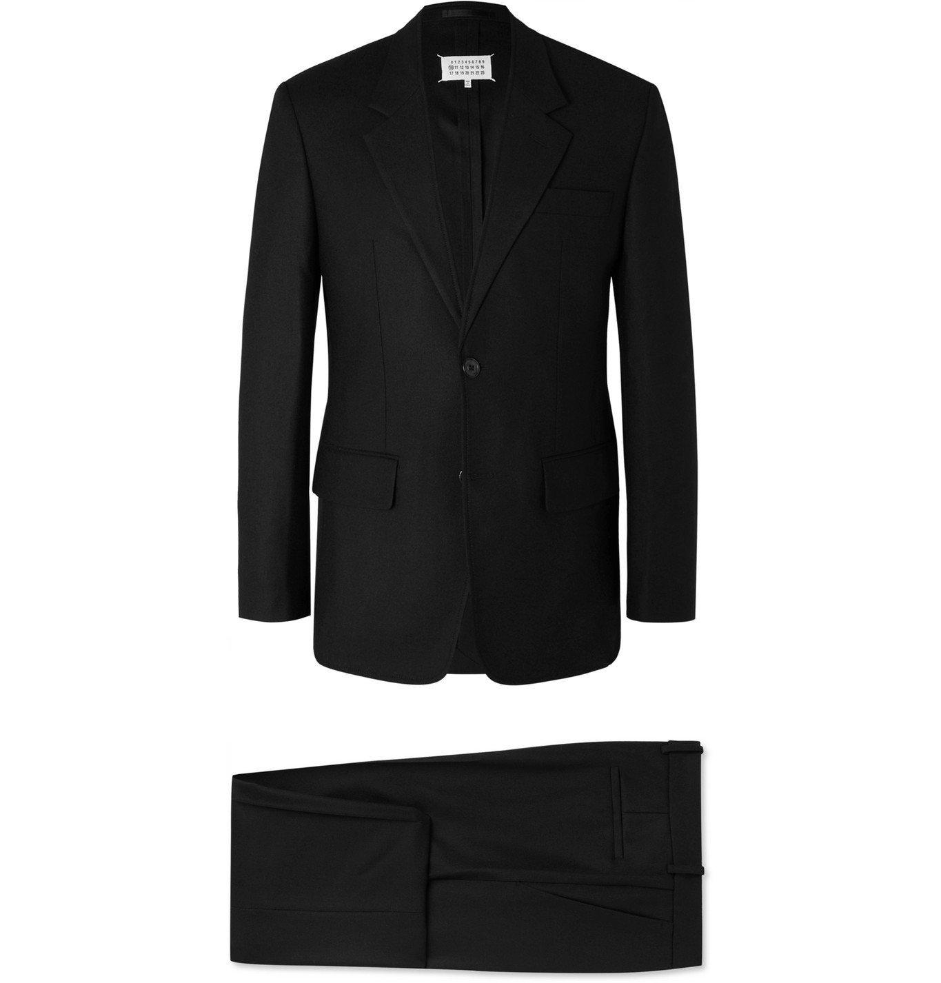Photo: Maison Margiela - Black Wool Suit - Black