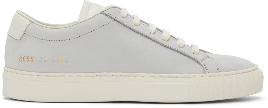 Photo: Common Projects Blue Nubuck Achilles Low Sneakers