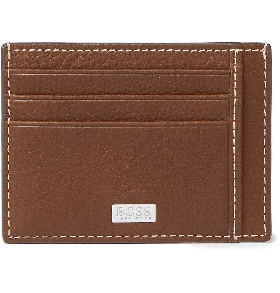 Photo: Hugo Boss - Crosstown Full-Grain Leather Cardholder - Tan