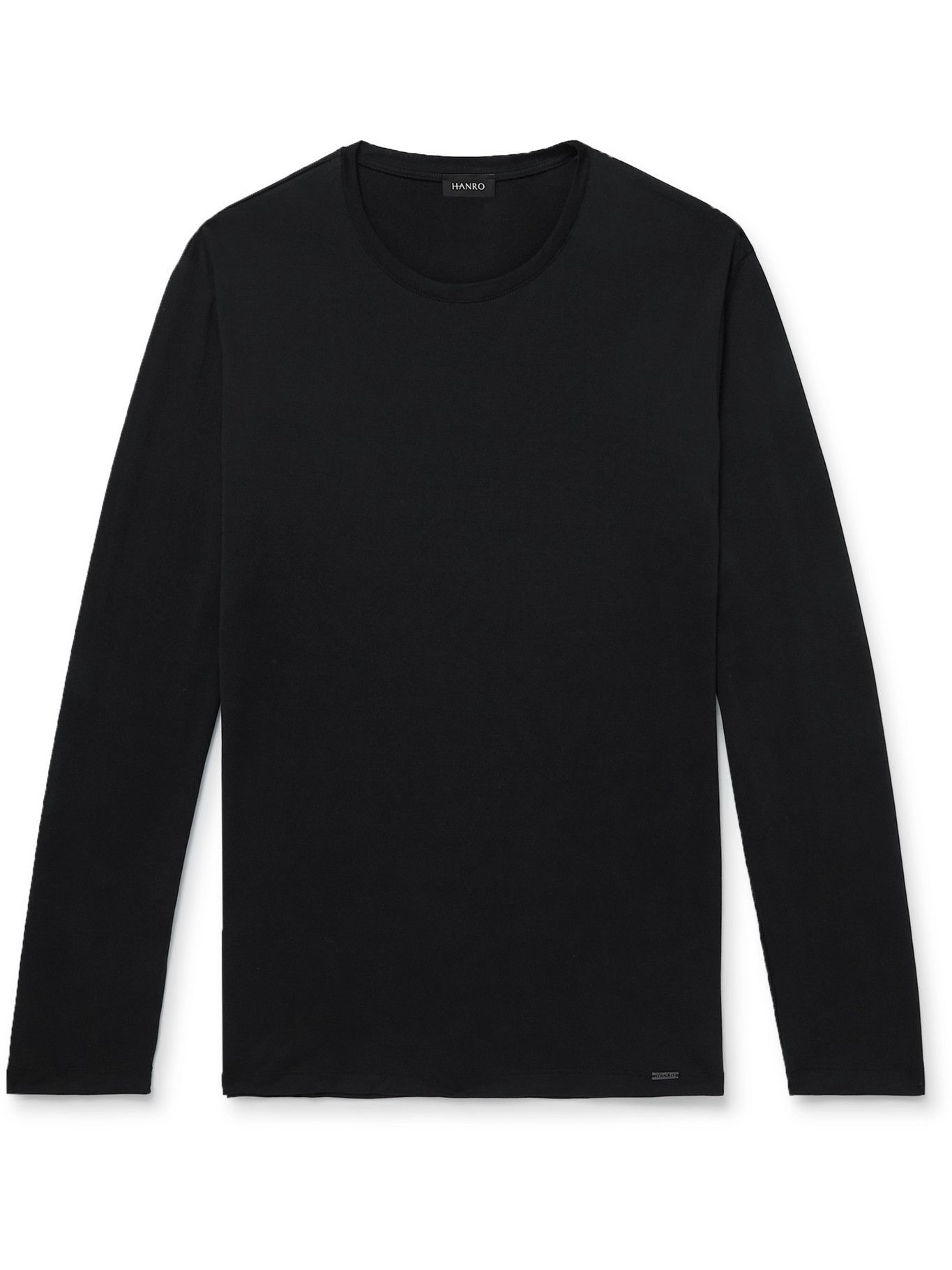 Photo: Hanro - Cotton-Jersey Pyjama T-Shirt - Black
