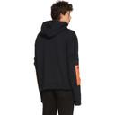 Raf Simons Black Additional Sleeve Hoodie