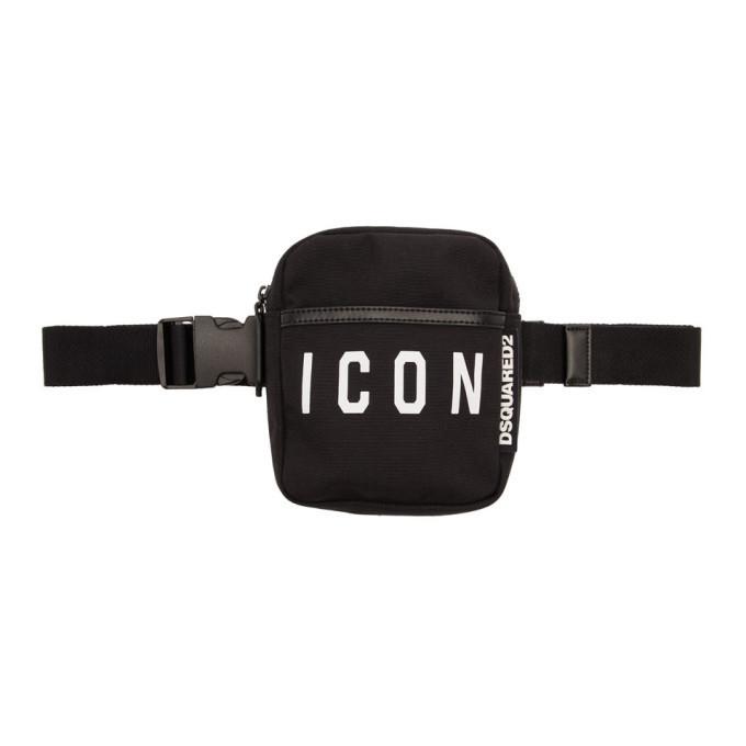 Photo: Dsquared2 Black Nylon Icon Belt Bag