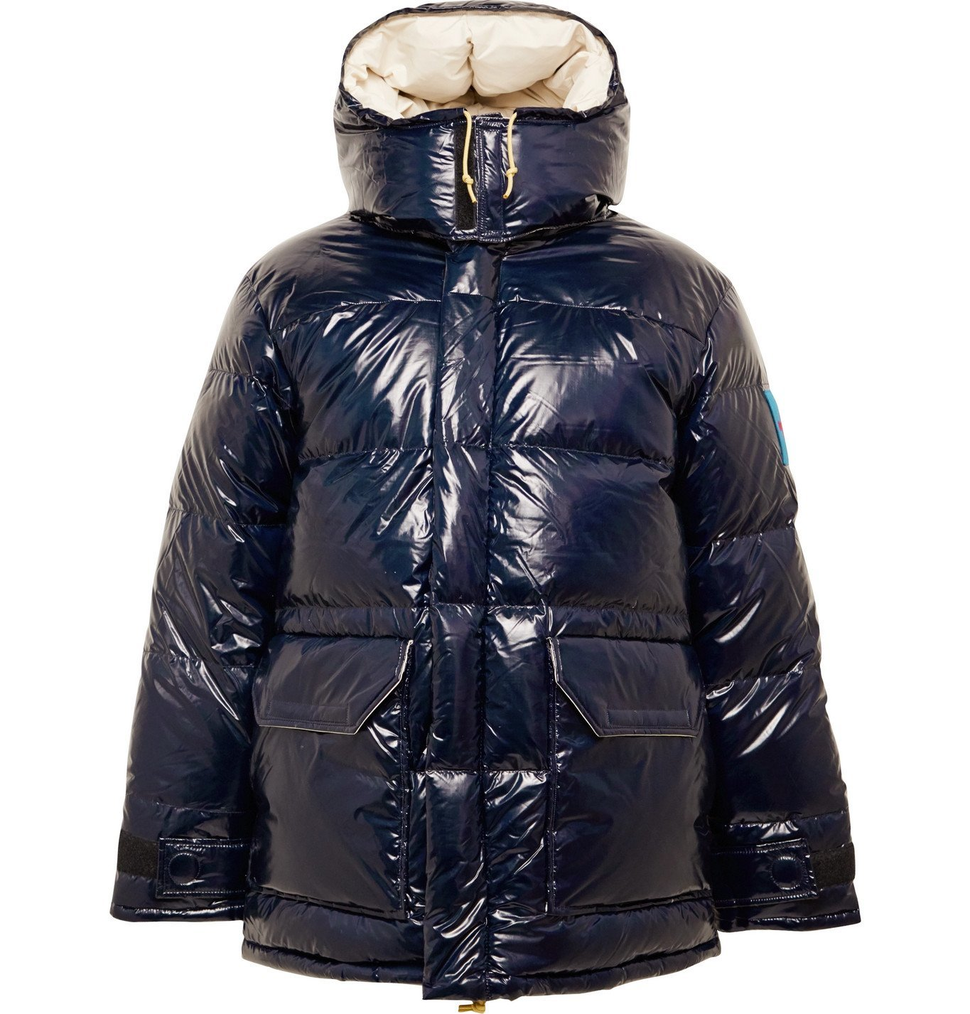 Photo: The North Face - Logo-Appliquéd Quilted Coated-Nylon Hooded Down Jacket - Blue