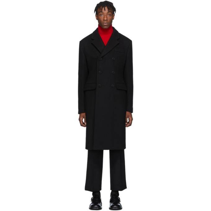 Photo: Prada Black Cashmere Double-Breasted Coat
