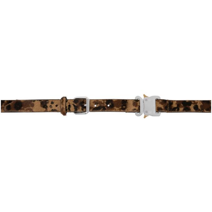 Photo: 1017 ALYX 9SM Black and Brown Leopard Belt