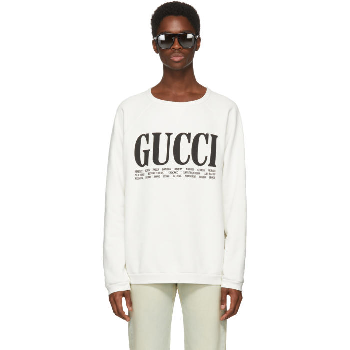 Photo: Gucci White Cities Sweatshirt