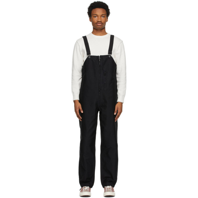 Photo: BEAMS PLUS Black Garment-Dyed Mil Overalls