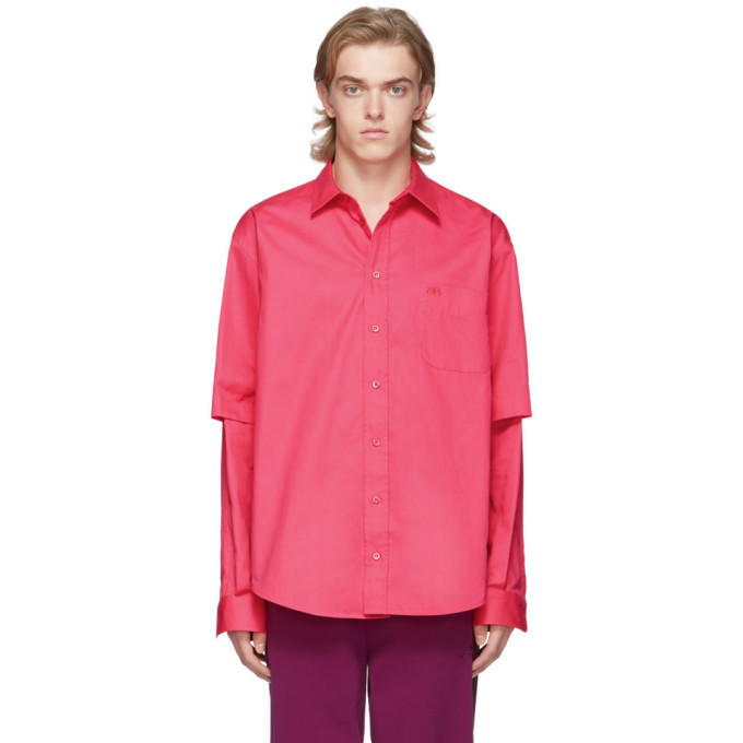 Photo: Balenciaga Pink Double Sleeve Shirt